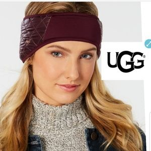 NWT Ugg shearling quilted headband
